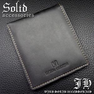 sai77 黒 本物ブランドが999円 ルチアーノ・バレンチノ 二つ折り財布 ブラック本革 本皮|swan-hoseki