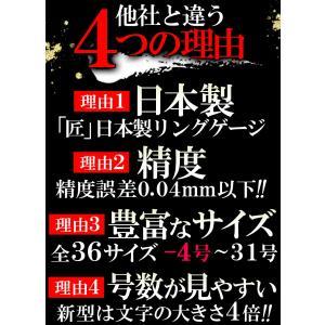 日本製 リングゲージ マイナス4号〜31号まで 全36サイズ 日本標準規格 サイズゲージ 指輪 メンズ レディース sg8 swan-hoseki 04