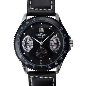 メンズ 腕時計 3針 自動巻き 防水 クロノグラフ 人気 おしゃれ ブランド 格安 おすすめ アナログ 革ベルト スポーツ t125|swan-hoseki