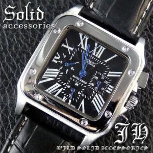 メンズ 腕時計 3針 自動巻き 防水 クロノグラフ 人気 おしゃれ ブランド 格安 おすすめ アナログ 革ベルト スポーツ t135|swan-hoseki