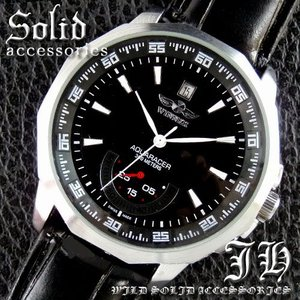 メンズ 腕時計 3針 自動巻き 防水 クロノグラフ 人気 おしゃれ ブランド 格安 おすすめ アナログ 革ベルト スポーツ t144|swan-hoseki
