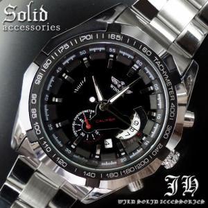 メンズ 腕時計 3針 自動巻き 防水 クロノグラフ 人気 おしゃれ ブランド 格安 おすすめ アナログ メタル ベルト スポーツ t222|swan-hoseki