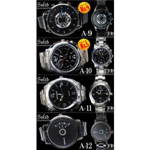 メンズ 腕時計 60種類から選べる 人気 おしゃれ ブランド おすすめ ブラック ホワイト ブラウン 黒 白 茶 アナログ|swan-hoseki|05