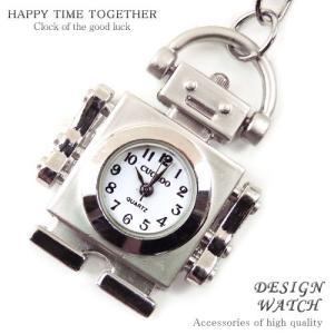 tvs118 525円ポッキリ 煌きGlass超人気レディース ロボットtype時計キーホルダー 可愛いデザイン|swan-hoseki