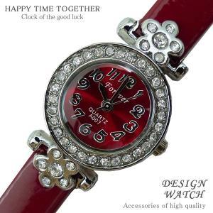 腕時計 時計 レディース 安い 人気 おしゃれ ブランド 格安 カジュアル 革ベルト スポーツ レッド赤 tvs192|swan-hoseki