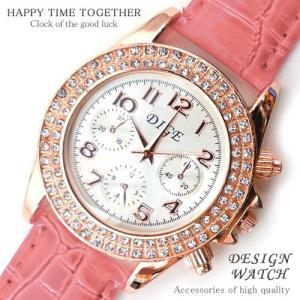 腕時計 時計 レディース 安い 人気 おしゃれ ブランド 格安 カジュアル 革ベルト スポーツ ピンク 桃色 tvs220|swan-hoseki