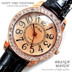 腕時計 時計 レディース 安い 人気 おしゃれ ブランド 格安 カジュアル 革ベルト スポーツ ブラック黒 tvs63|swan-hoseki