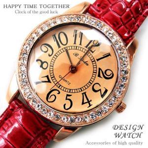 腕時計 時計 レディース 安い 人気 おしゃれ ブランド 格安 カジュアル 革ベルト スポーツ レッド赤 tvs67|swan-hoseki