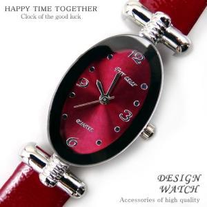 腕時計 時計 レディース 安い 人気 おしゃれ ブランド 格安 カジュアル 革ベルト スポーツ レッド赤 tvs89|swan-hoseki
