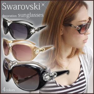 新色 サングラス レディース ブランド スワロフスキー デコ uvカット UV400 紫外線カット 人気 キラキラ xm|swasuwa