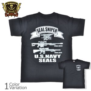 SWAT ORIGINAL(スワットオリジナル) メンズ Tシャツ 半袖 【ミリタリー】 SEAL SNIPER バックプリントTシャツ 6.2oz|swat