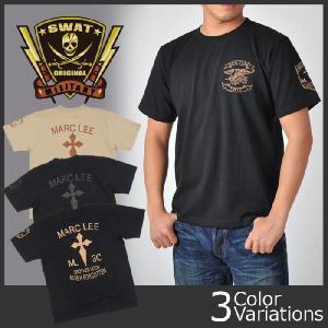 SWAT ORIGINAL(スワットオリジナル) メンズ Tシャツ 半袖 【ミリタリー】 マーク・リー クロス バックプリント(クロス) 6.2oz|swat