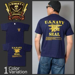 SWAT ORIGINAL(スワットオリジナル) SWAT ORIGINAL(スワットオリジナル) U.S NAVY SEAL(JFK) バックプリント Tシャツ 半袖|swat