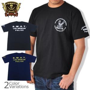 SWAT ORIGINAL(スワットオリジナル) メンズ Tシャツ 半袖 【ミリタリー】 スワット 3ポイント バックプリントTシャツ 6.2oz|swat