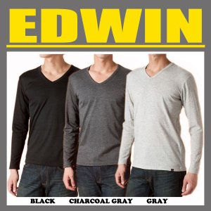 EDWIN エドウィン EDWIN BODY FIRE Vネック 長袖Tシャツ 【57135】 swat