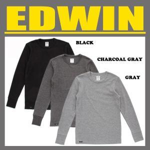 EDWIN エドウィン EDWIN ハニカム ワッフル クルーネック 長袖Tシャツ 【57120】 swat