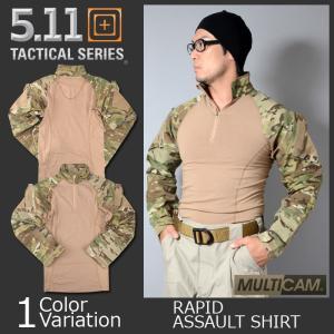 5.11 TACTICAL (ファイブイレブン) MultiCam TDU Rapid Assault Shirt マルチカム ラピッド アサルト シャツ コンバット 【正規取扱】72158|swat