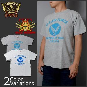ALL KING(オールキング) U.S.AIR FORCE ITAZUKE AIR BASE/USエアフォース板付ベース ミリタリー メンズ半袖 Tシャツ swat