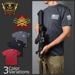 ALL KING(オールキング) フラッグプリント アメリカ国旗 ドライTシャツ|swat