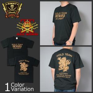ALL KING(オールキング) DEVGRU GOLD TEAM BP T-SHIRT 2018 デブグル ゴールド チーム バックプリント Tシャツ|swat