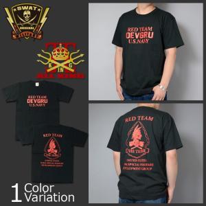 ALL KING(オールキング) DEVGRU RED TEAM BP T-SHIRT 2018 デブグル レッド チーム バックプリント Tシャツ|swat