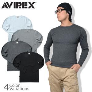 AVIREX(アビレックス) TRECO CREW NECK L/S TEE デイリー クルーネック ロングスリーブ ティーシャツ 6153481|swat