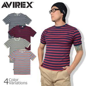 AVIREX(アビレックス) TERCO BORDER S/S T-SHIRT デイリー ショートスリーブ ボーダー ティーシャツ6163371|swat