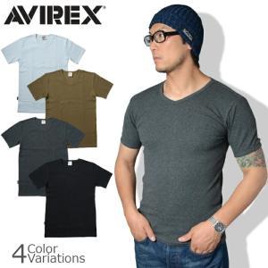 AVIREX(アビレックス) S/S V NECK T-SHIRTデイリー ブイネック 半袖 Tシャツ 6143501|swat