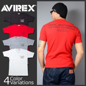 AVIREX(アビレックス) US ARMY STENCIL WAFFLE V NECK T-SHRT アーミー ステンシル ワッフル Vネック Tシャツ 6173348|swat