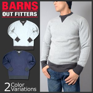 BARNS OUT FITTERS(バーンズ アウトフィッターズ) ヴィンテージ W V ガゼット クルーネック コズン スウェット made by UNION SPECIAL 2015年モデル BR-3000x|swat