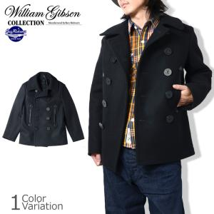 "Buzz Rickson's(バズリクソンズ) ""WILLIAM GIBSON COLLECTION"" BLACK PEA COAT (ブラック ピーコート) #BR12394 swat"