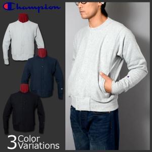 Champion(チャンピオン) リバースウィーブ(赤タグ)スナップスウェットシャツ(12.5oz) C5-E002|swat