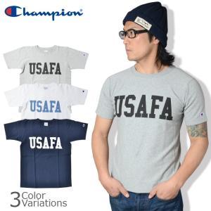 Champion(チャンピオン) リバースウィーブ Tシャツ USAFA プリント 半袖 【レターパック360対応】C3-F371|swat