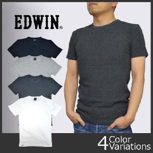 EDWIN(エドウィン) ミニワッフル クルーネック H/S 半袖 Tシャツ 57225 swat