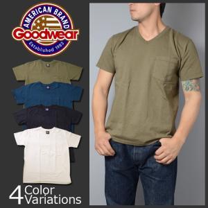 GOODWEAR(グッドウェア) ブイネック ポケット Tシャツ スリムフィット V NECK POCKET T SHIRT Slim FitGDW-001-171007|swat