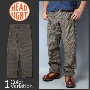 HEAD LIGHT(ヘッドライト) 11oz. BROWN HICKORY WORK PANTS (11オンス ブラウン ヒッコリー ワーク パンツ) HD41262A|swat