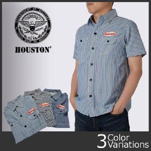 HOUSTON(ヒューストン) ワッペンショートスリーブワークシャツ 4932|swat