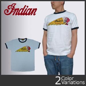 "indian インディアン ロゴプリント 半袖リンガーTシャツ ""INDIAN FACE"" IM76296|swat"
