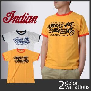 "indian ロゴプリント 半袖リンガーTシャツ ""46th BIKE WEEK"" IM76297|swat"