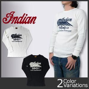 indian インディアンモーターサイクル サーマル ロングスリーブTシャツ IM66445|swat