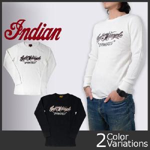 indian インディアンモーターサイクル サーマル ロングスリーブTシャツ IM66446|swat