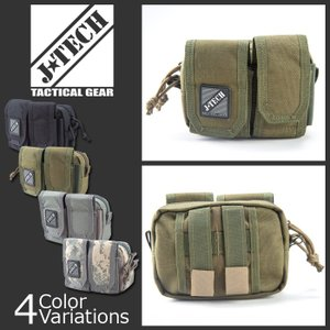 J-TECH(ジェイテック) TWIN POCKETS POUCH ツインポケット ポーチ JT-112|swat