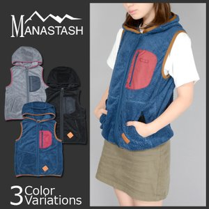 MANASTASH(マナスタッシュ) Lady's THERMAL FLEECE VEST レディース サーマル フリース ベスト 7252008|swat