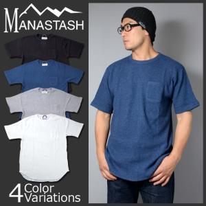 MANASTASH(マナスタッシュ) BIG WAFFLE LOOSE TEE ビッグ ワッフル ルーズ Tシャツ ポケット 7173098|swat