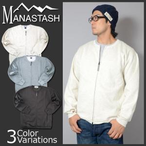 MANASTASH(マナスタッシュ) 裏起毛 スウェット ZIP シャツ 7173105|swat
