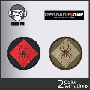 Mil Spec Monkey(ミルスペックモンキー) ミリタリーワッペン RedBackOne Logo (レッドバックワン ロゴ) パッチ クロネコDM便対応 swat