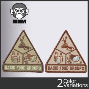 Mil Spec Monkey(ミルスペックモンキー) ミリタリーワッペン BASIC FOOD GROUPS ベーシックグループス 【クロネコDM便対応】|swat