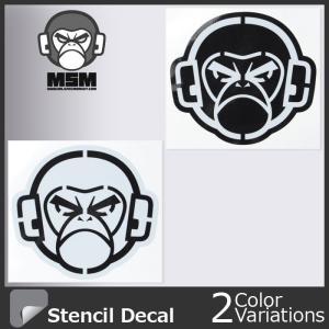 Mil Spec Monkey(ミルスペックモンキー) MSM LOGO STENCIL DECAL MSM ロゴ ステンシル デカールdecal-00018【クロネコDM便対応】|swat