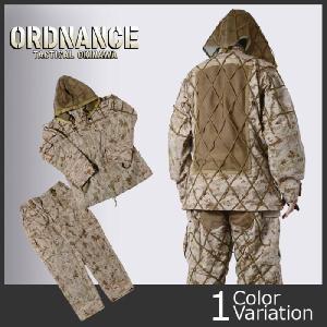 ORDNANCE TACTICAL OKINAWA(オードナンス) ギリースーツ上下セット(デジタルデザートカラーベース)|swat