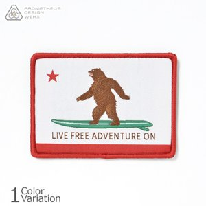 PDW Live Free Adventure On CA State Flag Morale Patch カリフォルニア パッチ PDAPA041|swat
